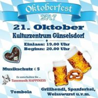2017-10-18 Günselsdorf AKTIV: Oktoberfest – Peter Hautzinger, SC Feller Günselsdorf