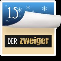 2016-12-15 Türchen Nr. 15 Der Zweiger Spirituosen Mödling – Ingrid Maron