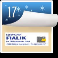 2016-12-16 Türchen Nr. 17 Fialik Lederwaren Mödling – Manfred Walouch